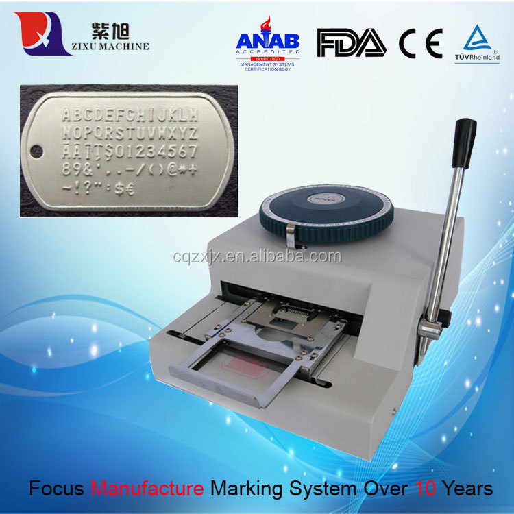 Nameplate Metal Sheet Marking Embossing Machine