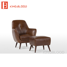 antique American style living room leather upholstery armchair sofa chair