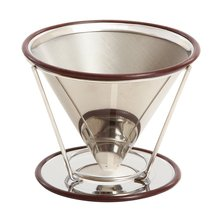 Paperless 2 3 4 cups 304 stainless steel cone coffee filter strainer /pour over coffee dripper