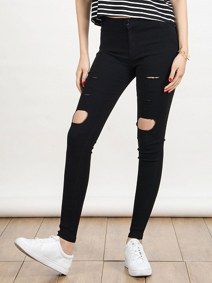 Wholesale woman skinny jeans ripped - Online Buy Best woman skinny ...