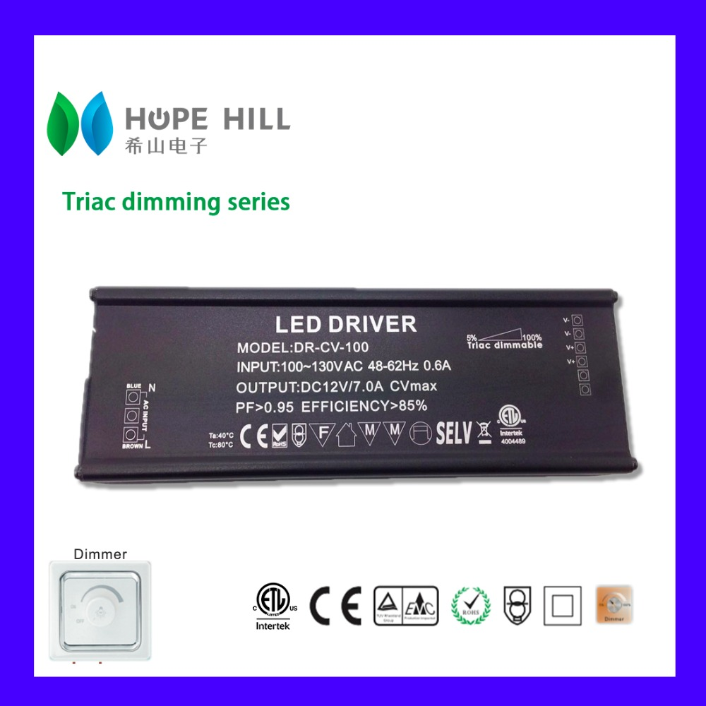 Constant Voltage 12V 100W Triac Dimmable LED Driver