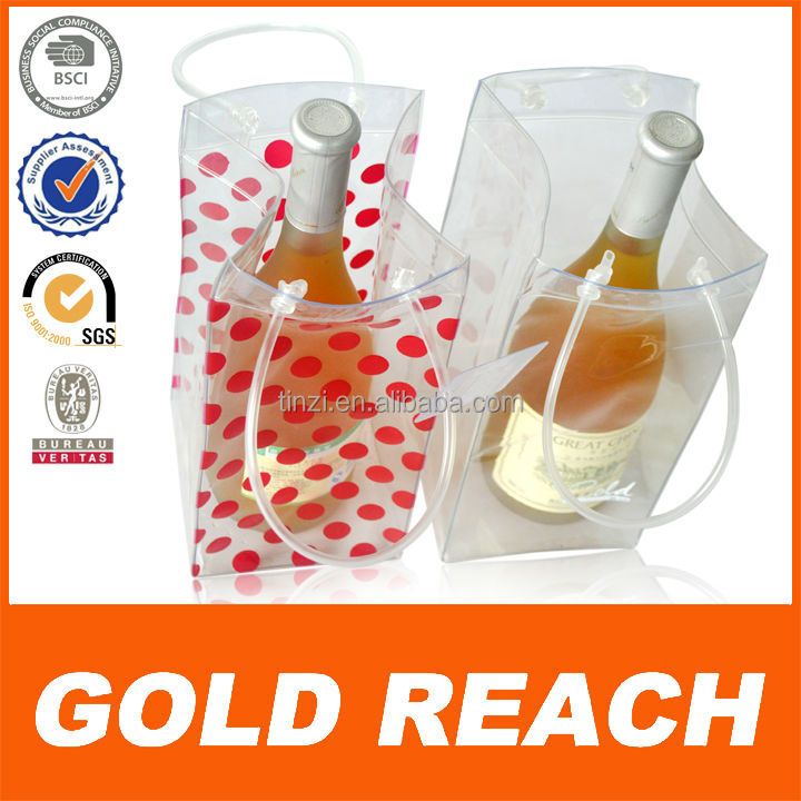 Handle Ice Bag for Wine Hot PVC Cooling Bag