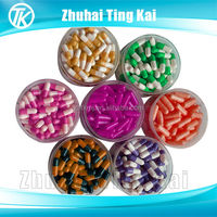 red/yellow/blue/green/orange/purple/pink/rose /black/white/clear empty gel capsule