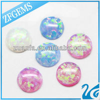 hot sell 5mm cabochon opal beads blue round opal synthetic opal