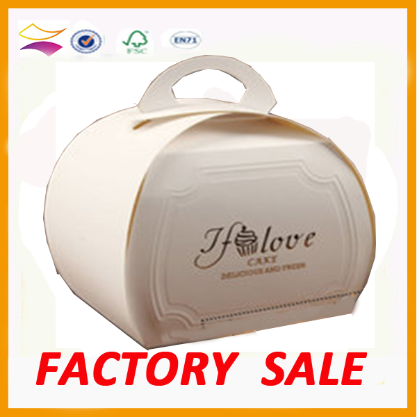 Food packaging box rmini die cut soap pape cupcakes packaging box