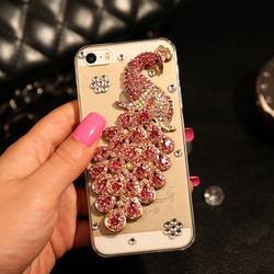 Deluxe New cell phone cover for iphone 6, stylish crystal diamond pc cell phone case