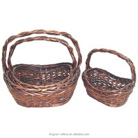 2014 hot sale cheap rattan bamboo gift baskets with the handle from China