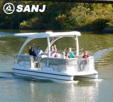 SANJ 2014 SJFT22 solar sightseeing pontoon boat sale
