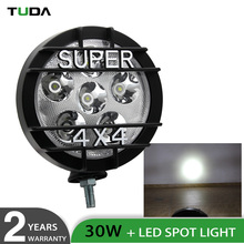 Round 12 Volt 24 Volt 6.3 Inch Car 30W New Led Work Light Lamp For Jeep 4X4 Offroad