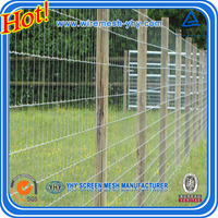 Hot dipped galvanized lowes deer fence woven wire mesh fence in rolls mainly for Canada
