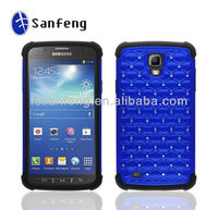 3D back cover for case samsung i9295 (i537) rugged case/big factory sale protector shell for galaxy s4 active smart cover blue