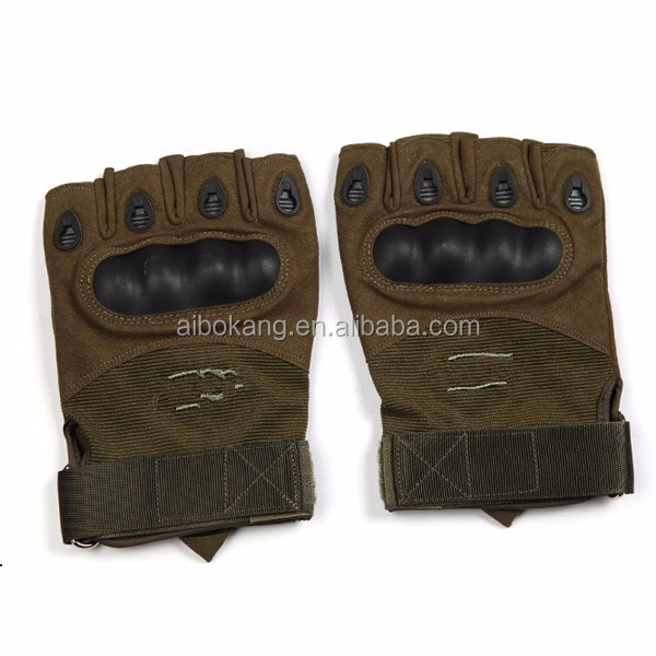 Classic Half Finger Police Airsoft slip resistant Black Tactical Military Gloves