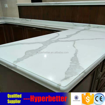 White calacatta quartz countertop