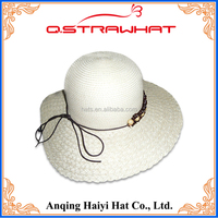 HYSH59 6 panel plain blank snapback straw hat price detail wholesales
