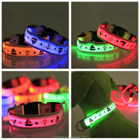 Burst Sales Novelty Pet Dog LED Collars Boat Patterns Pet Collar