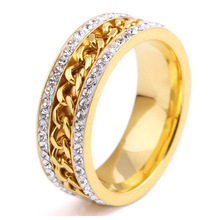 Wholesale stainless steel gold plating fashion bridal rings jewelry women