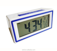 ABS LCD table digital alarm clock with calendar