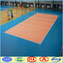 volleyball Pvc / Vinyl Sports Flooring With Green Litchi Surface from China
