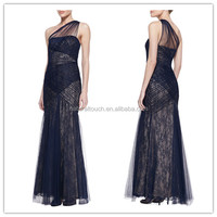 Women hot selling Bandage-style lace tulle dress,semi formal dresses(YLQ03338)