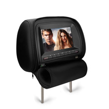 7inch/9inch headrest monitor headrest dvd player with pillow and zipper