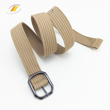 Khaki Canvas Fabric Polyester Cotton Military Tactical Belt