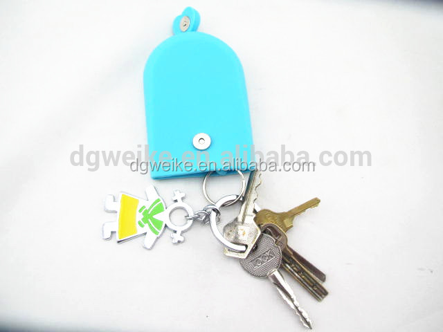 Key Chain Hasp Style Silicone Pouch Card Bag Case Gift Key Holder Magnet Snap