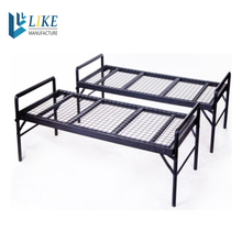 Powder coated high quality cheap iron cot for employee