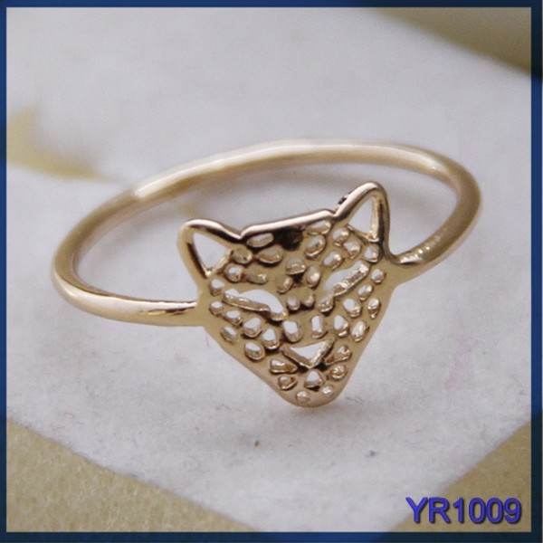 2015 New Fashion Design o ring seal, saudi gold jewelry ring, animal brass ring