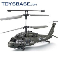 3 channel remote control black hawk helicopter model