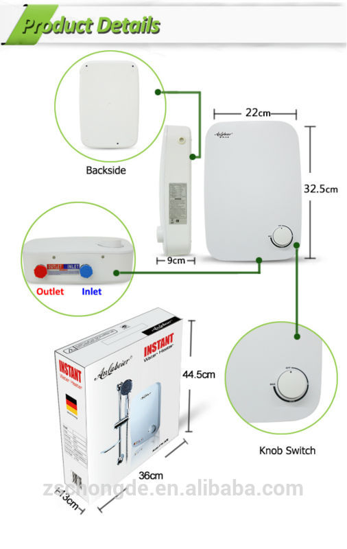 220V 5.5kW Anlabeier TPS-28 instant water heaters electric water heater for shower