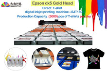 2017 newly -designed High speed and high production digital direct piece to piece T-shirt printing printer
