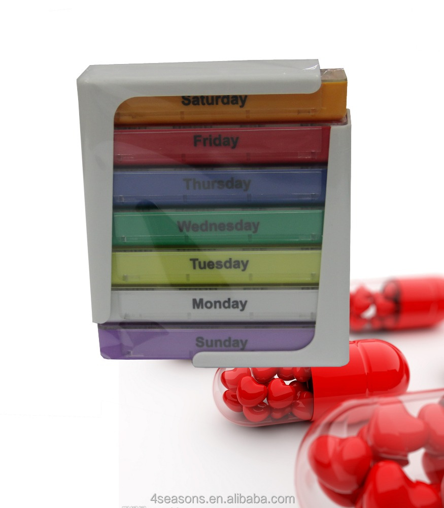7 days plastic pill box