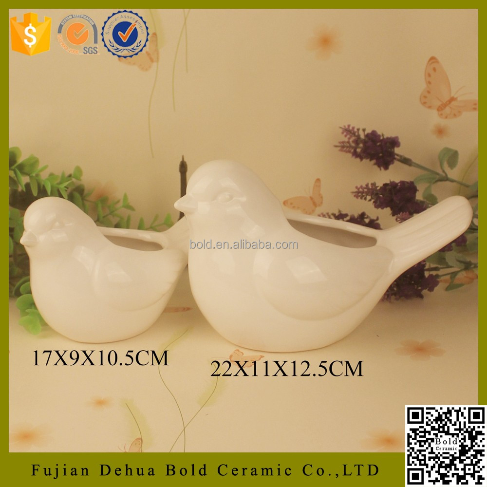 bird shape hot sale ceramic flower pots wholesale for indoor decor