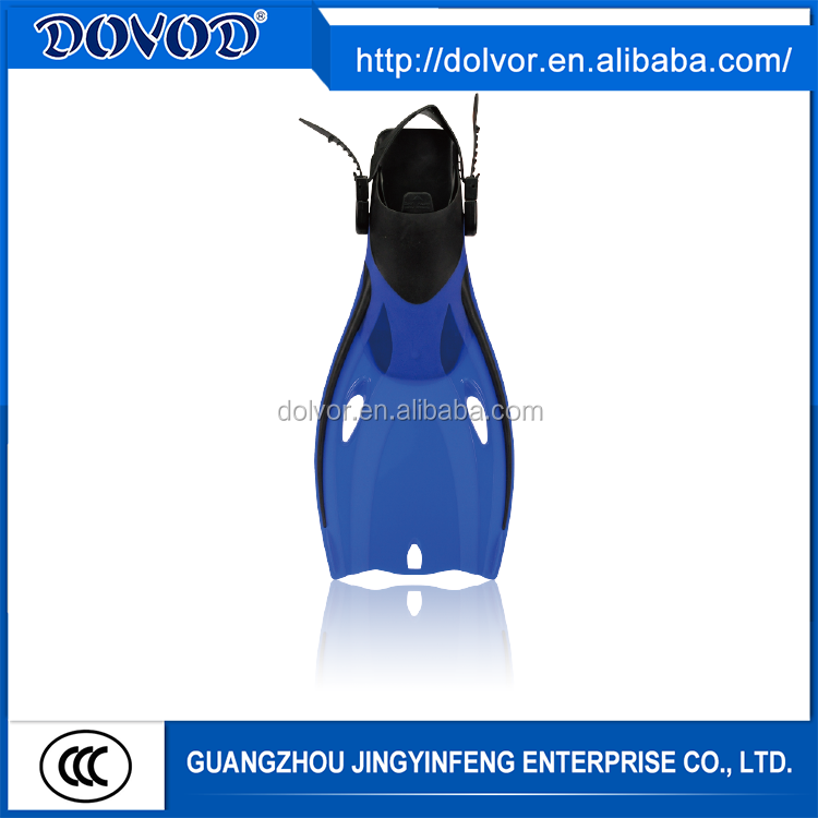 Custom diving or swimming use diving equipment blue silicone swim fins