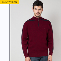 Half zipper neck five colors mens knit sweaters for man