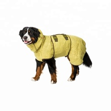 quilted winter custom Dog drying towel towelling coat jacket