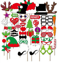 Wedding Christmas Photo Booth Props Party Decorations Supplies Mask Mustache For Fun Favors Photo Booth