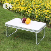 China professional supplier white small outdoor aluminum camping picnic folding portable table