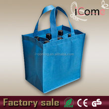 2015 cheap reusable non woven 6 bottle wine tote bag (ITEM NO:W150433)