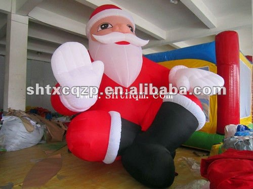 giant outdoor inflatable santa clause plastic santa clause