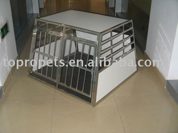 stainless steel pet transport cage