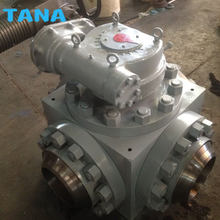 Forged steel Flanged 3 way top entry ball valve