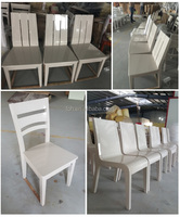 High Gloss Chair Restaurant Furniture Solid Wood Chair for Sale