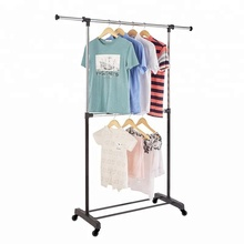 Double Rail Standing Clothes Dress Storage Hanger