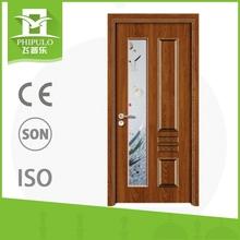 Modern Indian design melamine entry solid wood door for decoration homes