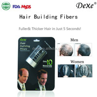 2016 hot sale top Dexe,Instant Powder Thin Loss Restore Refill hair,22g Dexe Hair Building Fibers Black/Dark Brown OEM Factory