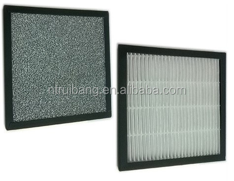 double faced air filter with antibacterial carbon and hepa