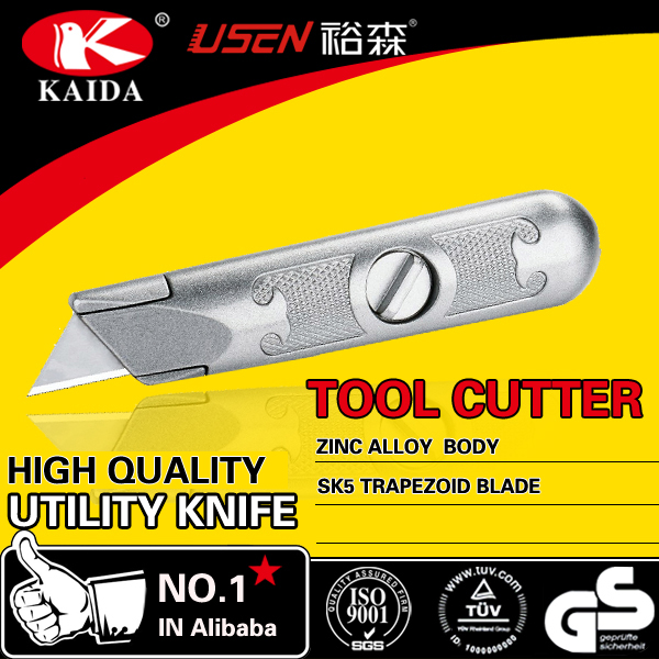 tool cutter 2pcs Trapezoid blade Zinc Alloy carpet cutter Heavy Duty Utility Trimming Knife