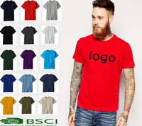 high quality 100% cotton tshirt men , custom plain blank summer tshirts ,wholesale tshirt in China