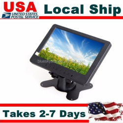 "USA Brand S702 7"" TFT LCD Monitor VGA BNC Input For PC Home CCTV VCD DVD PC,lcd monitor 2016"